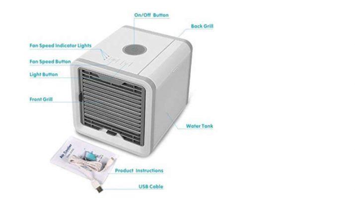 USB Refroidisseur dair Ventilateur de Climatisation Mobile Mini Personnel Air Refroidisseur Humidificateur HeiPard Mini Climatiseur Portable